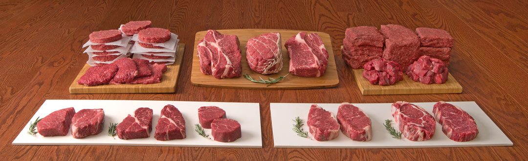 Full Size HarvestBox Grass Fed Beef Bundle